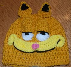 Crochet Garfield Hat Free Pattern: http://amray1976.blogspot.com/2013/01/crochet-garfield-hat.html