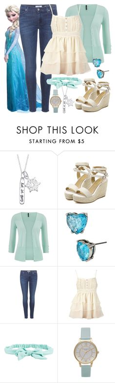 """""""Elsa - Modern - Disney Bound"""" by rainbowbaconcupcake ❤ liked on Polyvore featuring Disney, maurices, Betsey Johnson, 7 For All Mankind, Dorothy Perkins, Aéropostale, Olivia Burton, modern, women's clothing and women's fashion"""