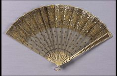1800, Europe - Fan - Steel, embroidered