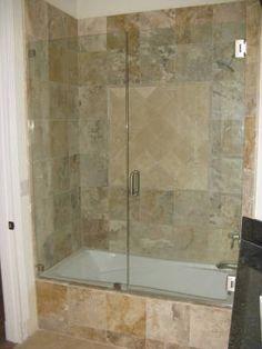 Glass Bathtub Doors Frameless | Frameless Tub Enclosure Next To A Tub
