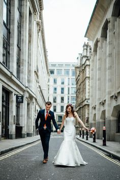 Modern, city cool, romantic, couple shot   Styling by Nulyweds, Photo by Beatrici Photography, Dress by Sassi Holford