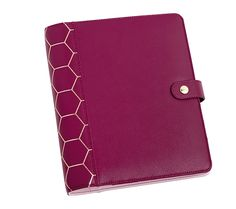 Discover the latest Planner colours with our gorgeous new Black Cherry shade in textured leather with gold honeycomb foiling - your perfect organisation tool