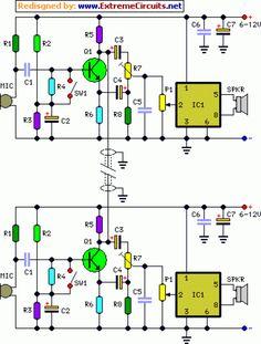 Full-duplex Intercom Circuit Diagram