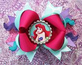 little mermaid hair bow holders - Google Search