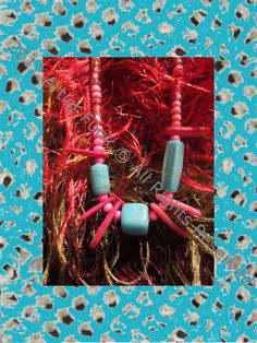 Funky Handmade JewelryColorful Pink and  Baby Blue by ArtisticFunk, $10.00
