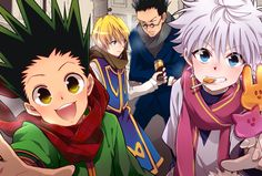 Gon, Kurapika, Leorio, and Killua     :)))