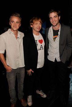 And the time Draco, Ron, and Cedric were just mates enjoying an evening in California together.