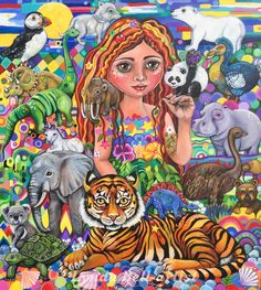 By Lynda Bell-I Paint Stories Using Fairytale Symbolism To Explore My Journey To Veganism | Bored Panda