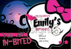 Monster High Digital Party Invitation No 2
