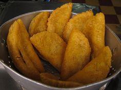 Colombian street food. Empanadas