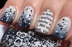 Black & White & Newsprint More Nail Polish: Ulta3 - Glitteratti Collection + giveaway