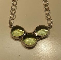Pale Green Trinity Necklace by Kerensamere on Etsy