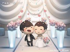 2011 by hjstory Wedding Couple Cartoon, Love Cartoon Couple, Cute Couple Art, Love Couple, Hj Story, Cute Love Stories, Love Story, Wedding Couples, Cute Couples