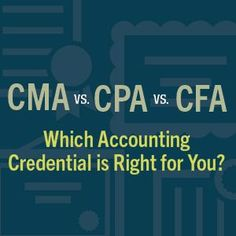 CMA vs. CPA vs. CFA: Which Accounting Credential is Right for You? #FinanceMajor