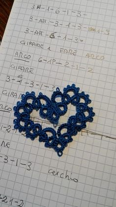Heart needle  tatting