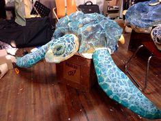 paper mache sea turtle