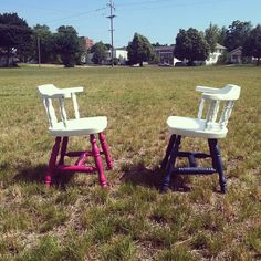 Painted chairs from ReStore.