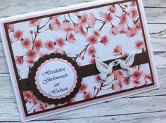 """Hochzeit - Hochzeitskarte """"Kirschblütenzauber"""" - ein Designerstück von MfG-KR bei DaWanda"""