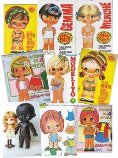 """Postagem é dedicado a todas minhas """"amigas"""" que chamam minha Boneca Blythe cabeçuda: Blythe e paper doll cabeçudas anos 70: ..."""
