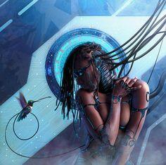 Sci-fi Art: Android Legacy - Messenger II - 2D Digital, Concept art, Sci-fiCoolvibe – Digital Art