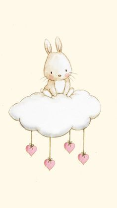 Kindergarten Menge quotBUNNY CLOUDquot Kunstdruck Kindergarten Illustration Kindergarten Menge quotBUNNY CLOUDquot Kunstdruck Kindergarten Illustration This image has get. Illustration Mignonne, Cute Illustration, Bunny Art, Cute Bunny, Cute Images, Cute Pictures, Lapin Art, Art Mignon, Cloud Art