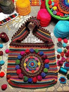 rengarenk örgü çanta örnekleri