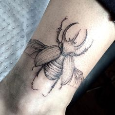 Fresh WTFDotworkTattoo Find Fresh from the Web Did this five-horned rhino beetle…