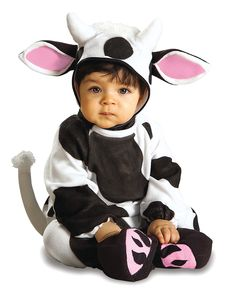 This infant cow costume is a great baby cow Halloween costume. Get this cow costume for a cute baby animal costume for Halloween or other events. Cute Baby Halloween Costumes, Halloween Bebes, Toddler Halloween, First Halloween, Cheap Halloween, Halloween Parties, Homemade Halloween, Halloween Projects, Funny Halloween
