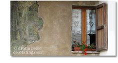 tuscan window treatments: white lace cotton tuscan style window coverings