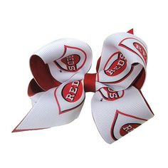 Juniors' Cincinnati Reds Two-Tone Bow Hair Clip