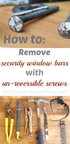 a GREAT tutorial explaining how to remove those screws you can't remove with a screw driver that hold in security bars on windows.  I've always wondered how to do this.