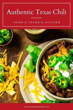 Coming from a Texan's kitchen, this authentic Texas chili is the best red chili recipe you'll ever try! This beef chili recipe is made from a dried chili paste, which gives it way more flavor and complexity than just a chili powder. Everyone always falls in love with this Texas chili recipe. #authentictexaschili #texaschilinobeans #texaschilirecipe #besttexaschilirecipe #bestredchilirecipe #redchilibeef #redchilirecipe Best Texas Chili Recipe, Beef Chili Recipe, Chili Recipes, Soup Recipes, Best Dinner Recipes, Vegan Recipes Easy, Fall Recipes, Tailgating Recipes, Red Chili