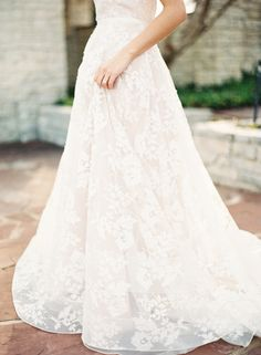 Gorgeous lace gown: http://www.stylemepretty.com/2015/03/27/neutral-la-rio-mansion-wedding-inspiration/ | Photography: Mint Photography - http://mymintphotography.com/