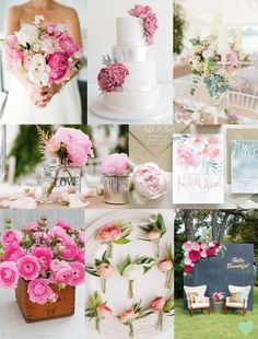 Pink Peony and Ranunculus Wedding Styling Mood Board from The #Wedding Community  #weddingideas