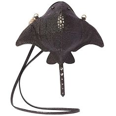 Betsey Johnson Kitsch Stingray Crossbody Black Textured Devil Ray Fans for sale online Fashion Mode, Fashion Outfits, Looks Style, My Style, Novelty Bags, Animal Bag, Unique Purses, Cute Bags, Aesthetic Clothes