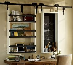I love this! It's rustic. Vintage. Hardware. Industrial. Simple. Beautiful!