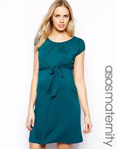 1c85b69a1acc4 ASOS Maternity Exclusive Kate Dress With Belt And Scoop Neck at asos.com