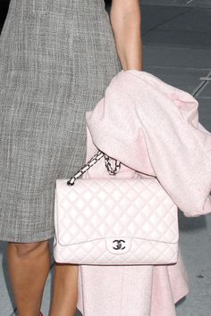 Just look how fabulous this pale pink Chanel looks for spring. Such a delicate and blush color. A classic beauty that never goes out of style. Go check them all out at http://www.chanel.com/en_WW/fashion/products/handbags.html