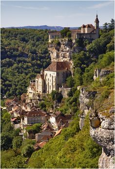 Rocamadour, France is classed as a World Heritage Site by UNESCO as part of the St James' Way pilgrimage route.  For centuries it has attracted pilgrims from every country, among them kings, bishops, and nobles.  Rocamadour by Stefan Jo Fuchs