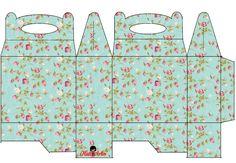 Shabby Chic: Caja para Lunch, para Imprimir Gratis. - Ideas y material gratis para fiestas y celebraciones Oh My Fiesta!