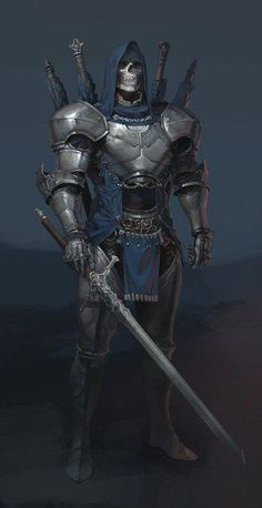 Undead Warrior mistook for a noble knight, until you get close enough to see his face. Dark Fantasy Art, Fantasy Rpg, Fantasy Artwork, Medieval Fantasy, Medieval Knight, Inspiration Drawing, Character Inspiration, Fantasy Warrior, Armor Concept