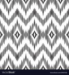 Tribal seamless pattern vector image on VectorStock Textile Pattern Design, Art Deco Pattern, Ikat Pattern, Textile Patterns, Textile Prints, Mayan Symbols, Viking Symbols, Egyptian Symbols, Viking Runes