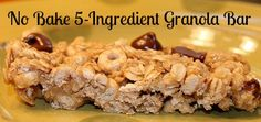 No Bake 5-Ingredient Granola Bar