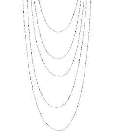White Gold Five-Layer Diamond-Cut Bead Chain by Yeidid #zulily #zulilyfinds