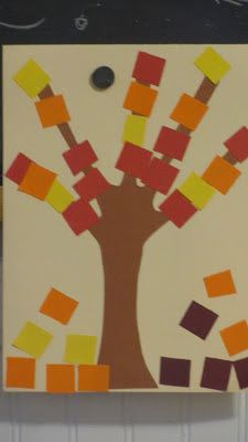 Growing Up Our Style: Fall Tree Craft With Paper Squares