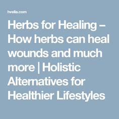 Herbs for Healing – How herbs can heal wounds and much more | Holistic Alternatives for Healthier Lifestyles