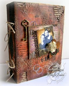 amazing altered art using artistic outpost stamps