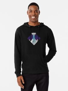 'Heart of Ice - Neon Stained Glass' Lightweight Hoodie by KrimsonViolet Sweatshirt Outfit, Graphic Sweatshirt, Colorado, Pink Halloween, Retro Aesthetic, Hoodies, Sweatshirts, French Terry, Chiffon Tops