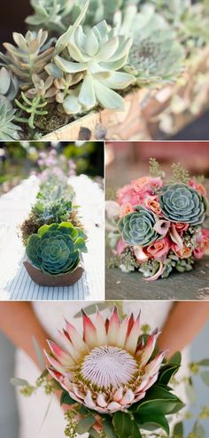 Succulents wedding ideas from Floral Design. www.floraldesign.me