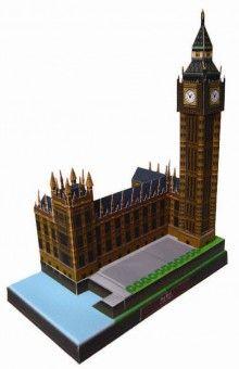 Paper model of Big Ben, England